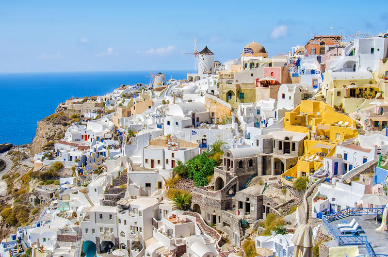 Greece, Thira, Oia town royalty free stock photo