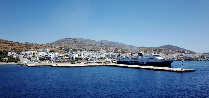 greece tinos arkivbilder