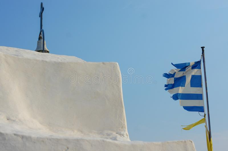 Greece is torn and broken stock photo