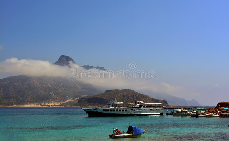 Greece view of the Bay of Balos. royalty free stock image