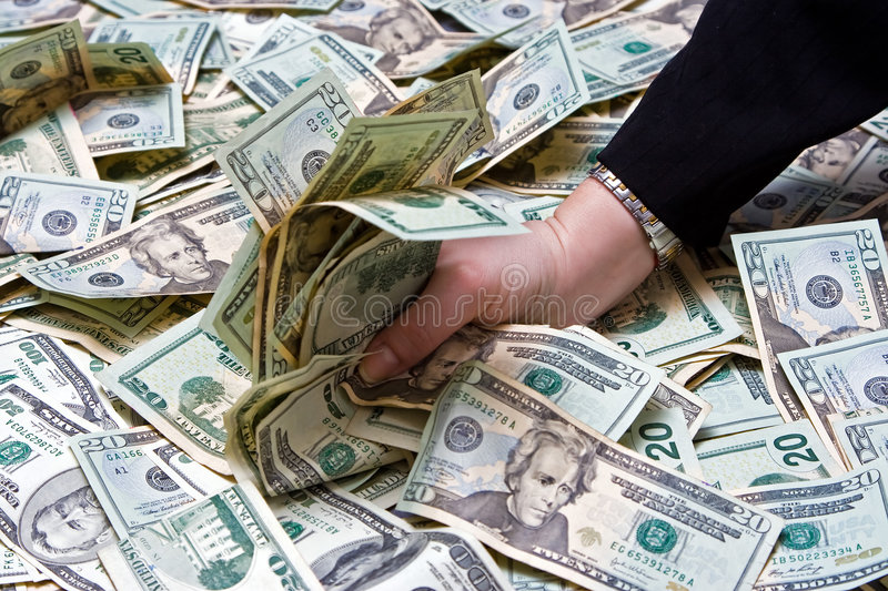 Download Greed stock image. Image of millionaire, wealth, grab - 3954591