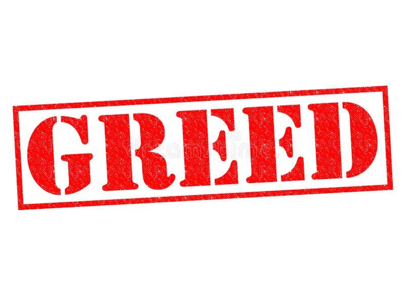 greed illustrazione di stock