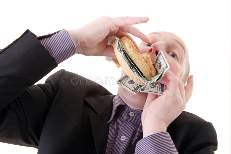 Download Greed Avarice Consuming Dollars Stock Image - Image: 12217209