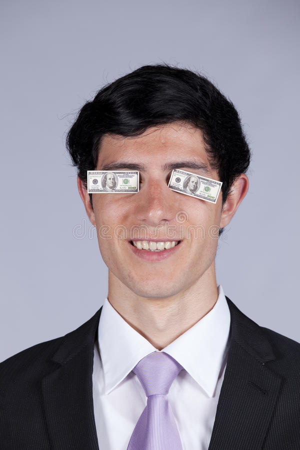 Greed Makes You Blind Stock Photography