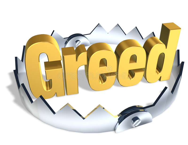 Download Greed Trap stock illustration. Image of foreclose, home - 5403224