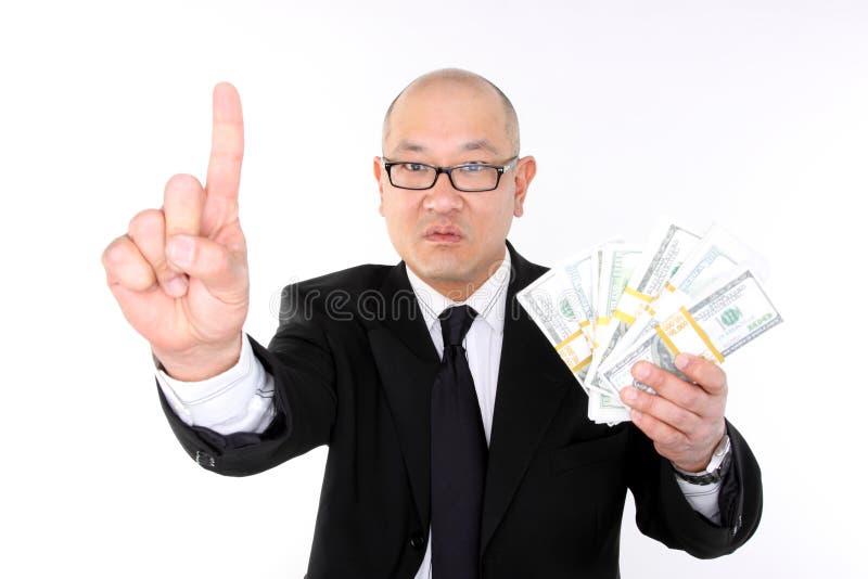 Greedy executive royalty free stock photos