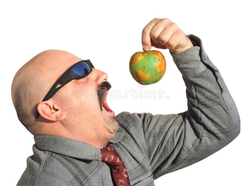 Download Greedy man stock image. Image of necktie, globe, mouth - 8985907