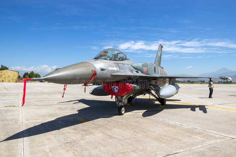 Greek air force F16 fighter jet aircraft stock images