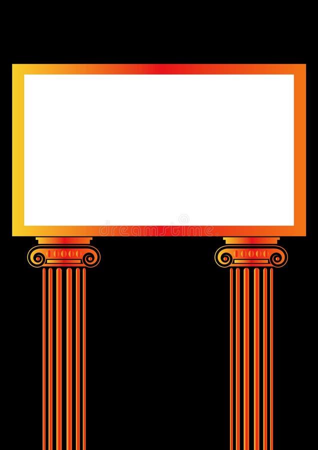 Download Greek Antique pillar frame stock vector. Illustration of border - 6495706
