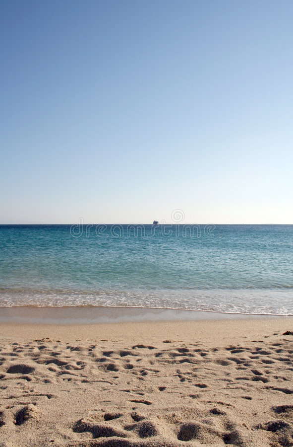 Greek beach stock image