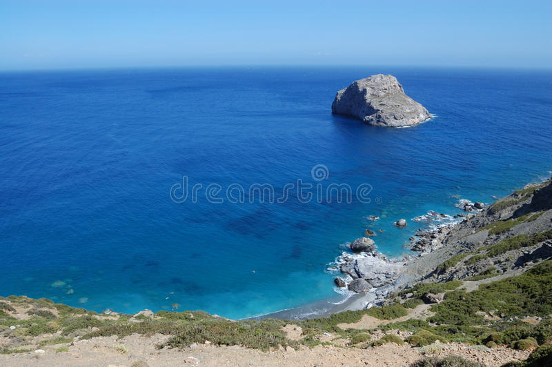 Greek beach, amorgos island stock image