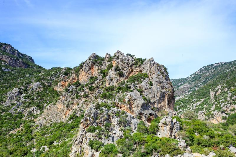 Greek big hill mountain royalty free stock photo
