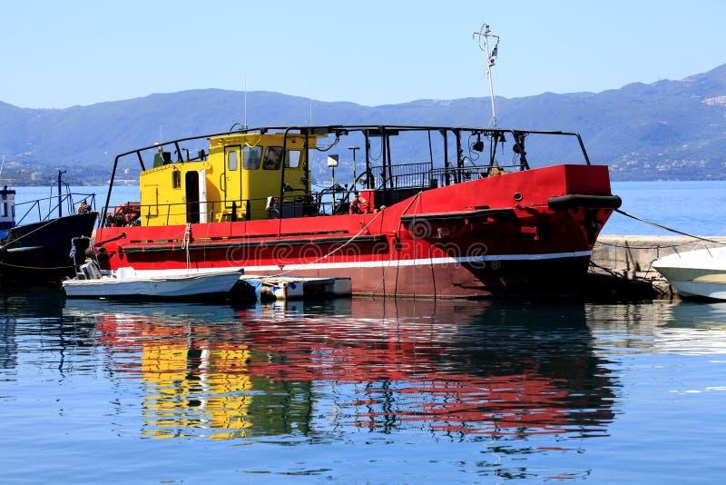 Greek Boat, Corfu, Greece royalty free stock photography