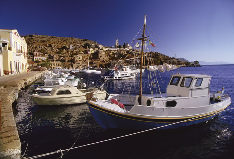 Download Greek boats stock image. Image of habour, food, europe - 138481