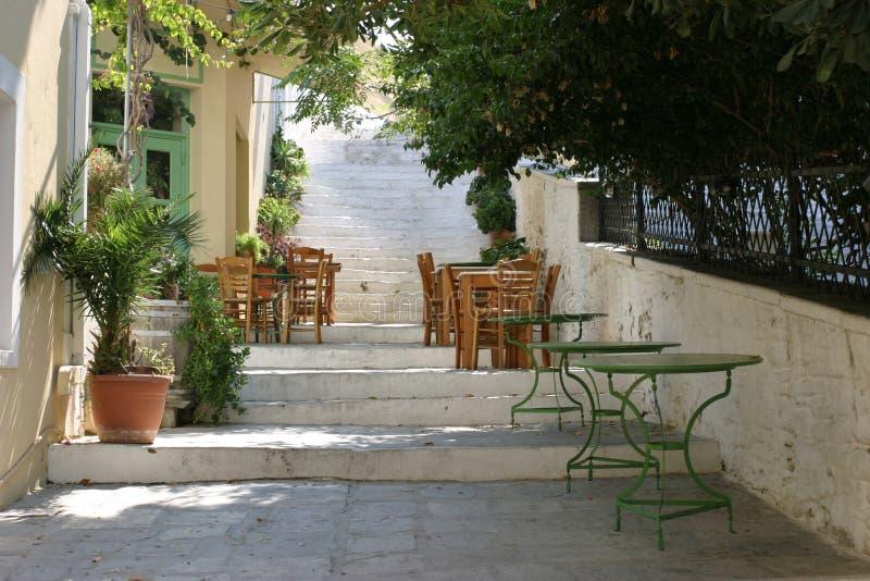 Greek cafe royalty free stock photo