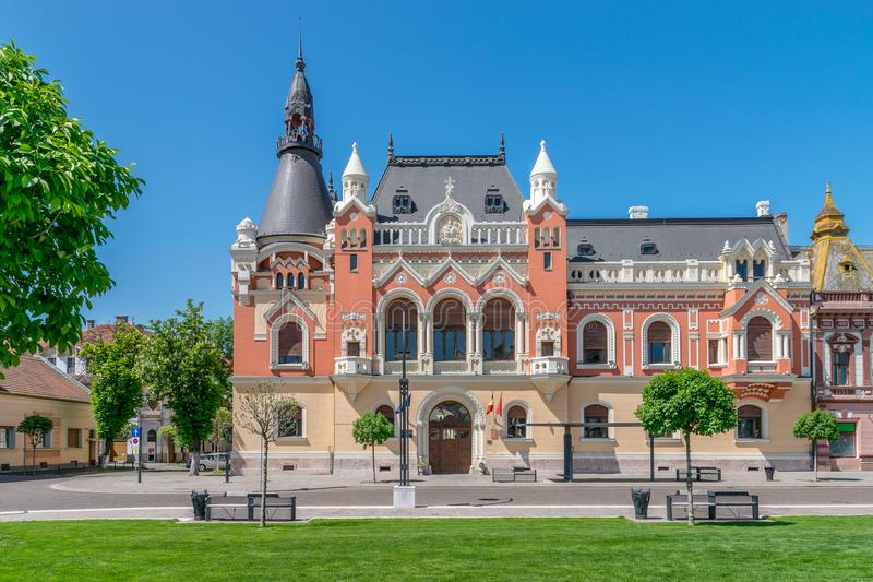 The Greek Catholic Bishop Palace in the center of Oradea, Romania, Crisana Region.  stock image