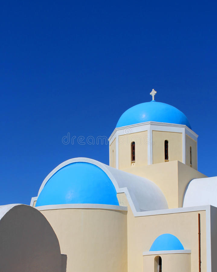 Download Greek church stock image. Image of greece, typical, santorini - 20265623