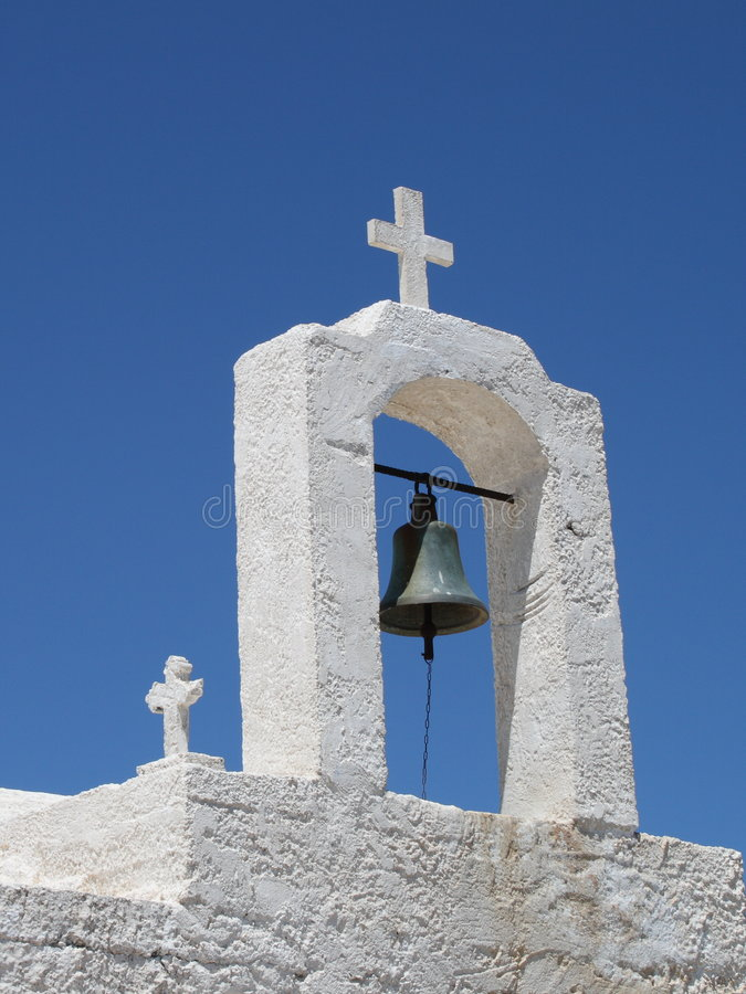 Greek church bell royalty free stock images