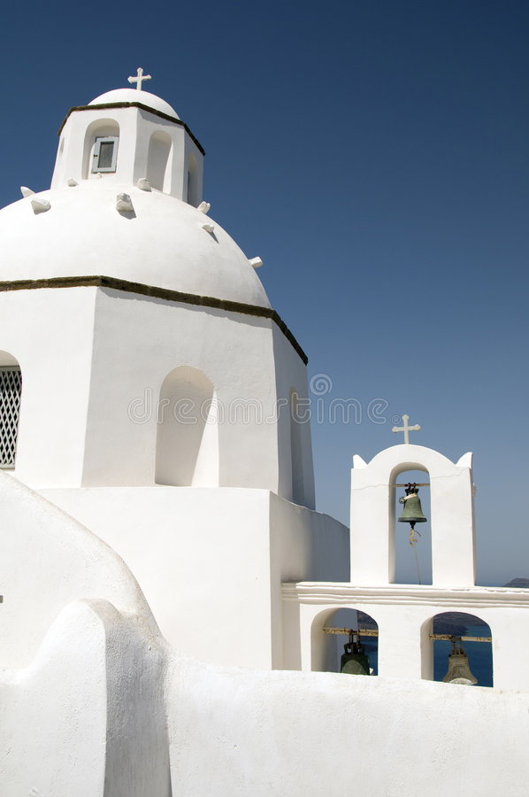 Download Greek Church Classic Architecture Stock Image - Image of islands, bell: 6825529