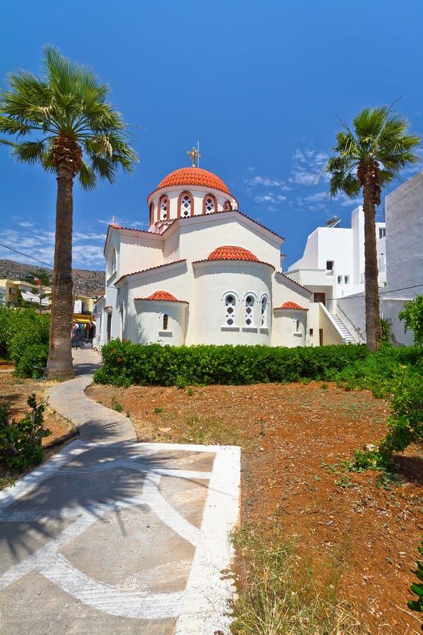 Greek Church On Crete Stock Photo