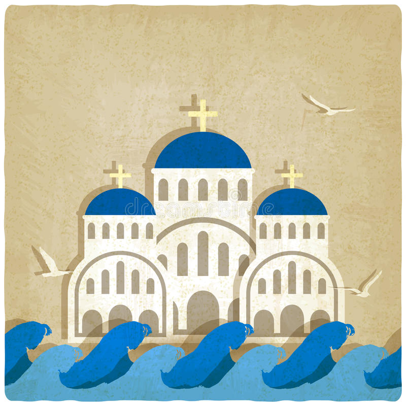 Free Greek Church Near Blue Sea Stock Photos - 54100603
