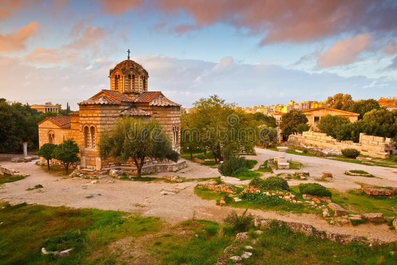 Ancient Agora, Athens royalty free stock image