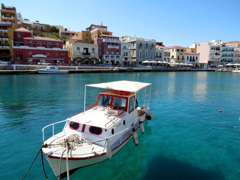 Greek city of Agios Nikolaos royalty free stock photography