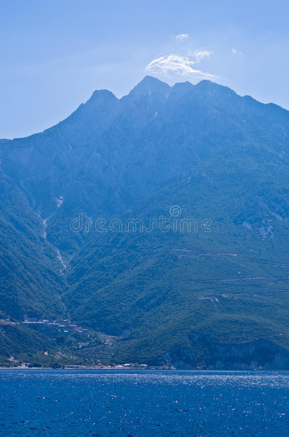 Download Greek Coast Of Aegean Sea At The Foot Of Holy Mountain Athos Stock Photo - Image of clear, reflection: 39500484