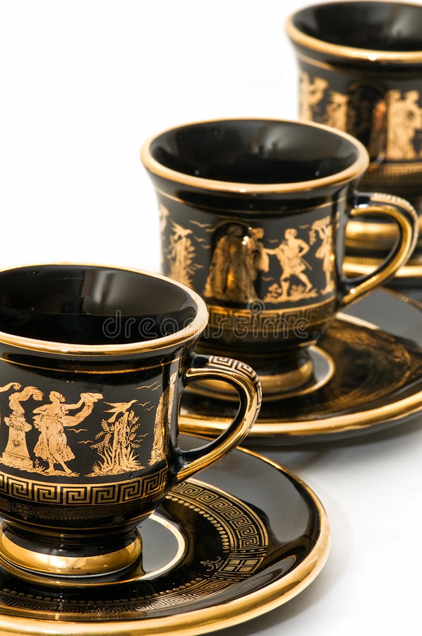 Greek Coffee Cups Royalty Free Stock Image