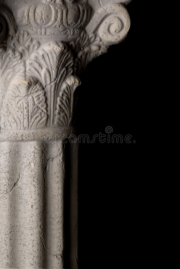 Greek Column. With corithian capital royalty free stock photo