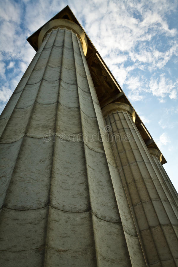 Greek column throwing up royalty free stock images