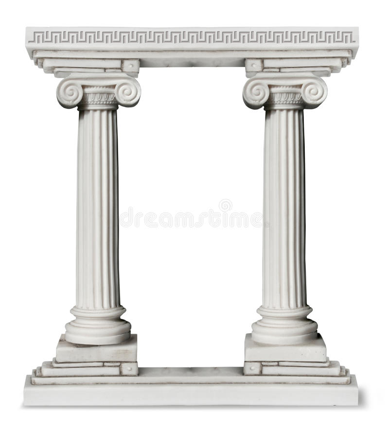 Greek columns gate royalty free stock photography