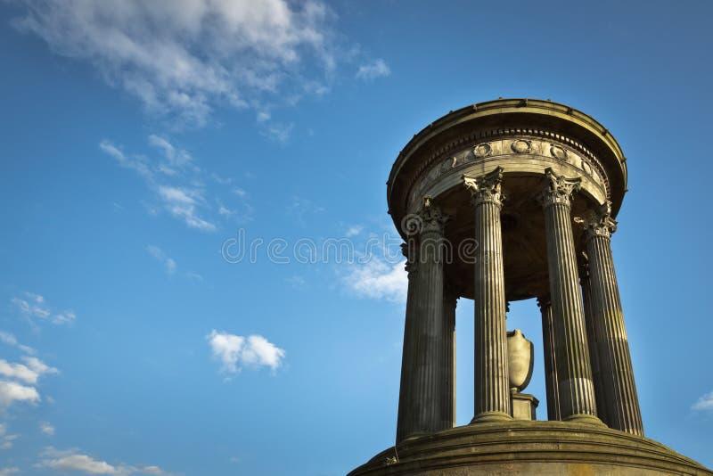 Greek columns monument stock photo