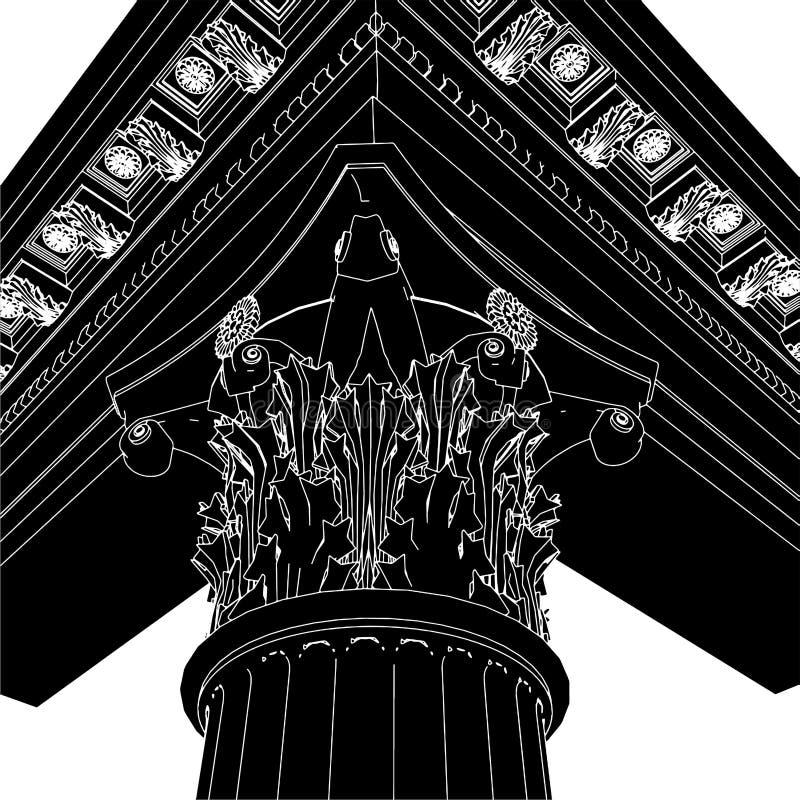 Download Greek Corinthian Column 01 stock illustration. Image of culture - 10792859