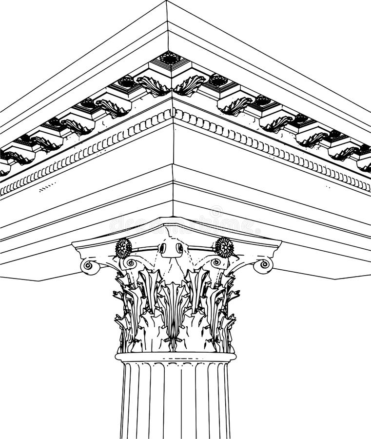 Download Greek Corinthian Column stock illustration. Illustration of ornate - 10792848