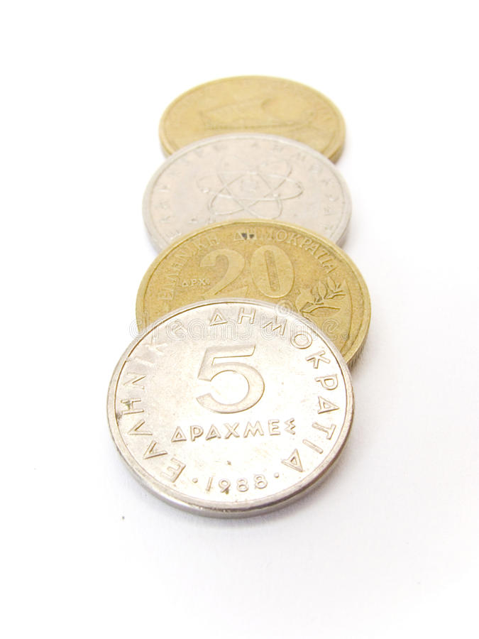 Greek Drachma Coins Royalty Free Stock Photos