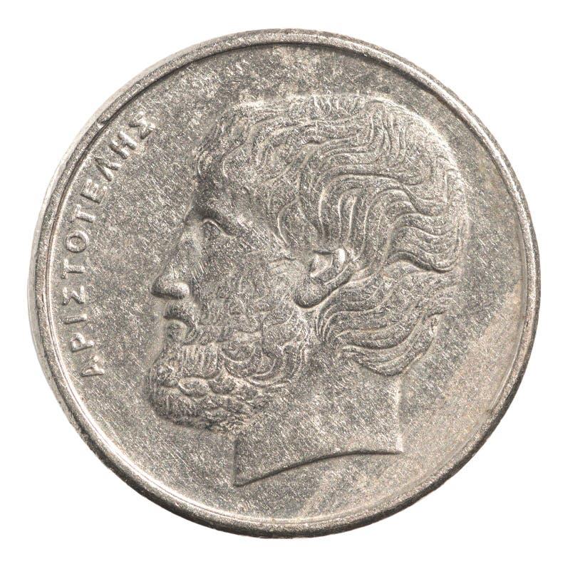 Greek drachmas coin stock photo. Image of twenty, coinage ...