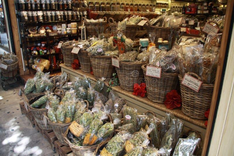 On a Greek farm market stock photo