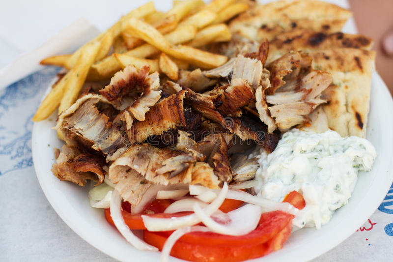 Greek Fast Food stock photography