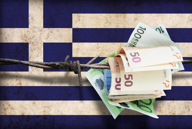 Greek financial crisis stock images