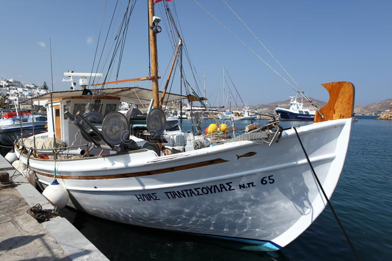 Download Greek fishing boat editorial photography. Image of dock - 34544992