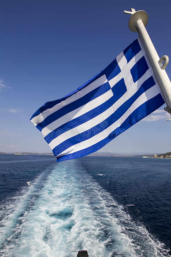 Download A Greek flag in the Aegean stock image. Image of aegean - 27774875