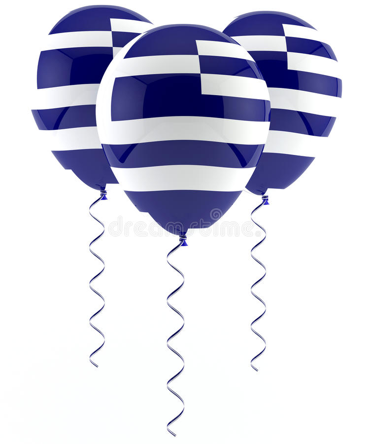 Download Greek flag balloon stock illustration. Image of party - 28857151