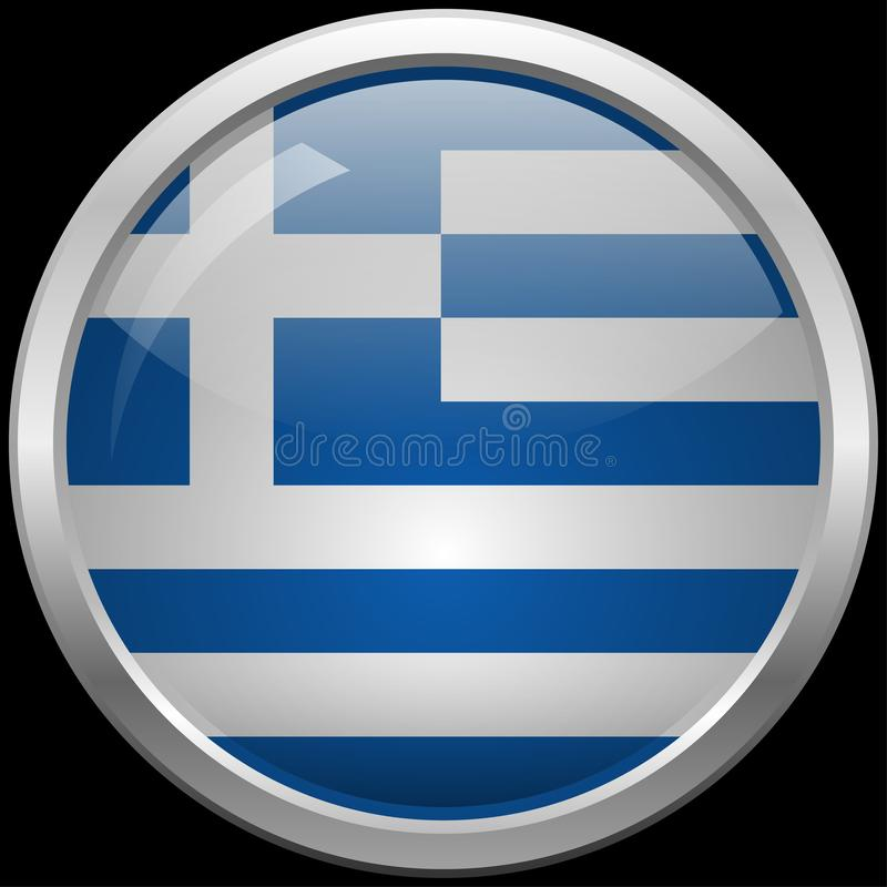 Greek flag glass button vector illustration vector illustration