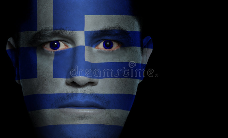 Download Greek Flag - Male Face stock image. Image of individual - 3133251