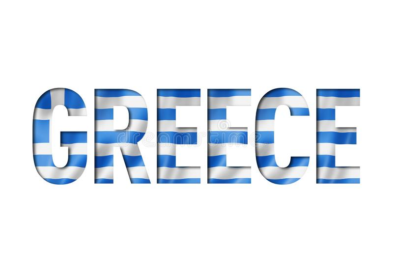 Greek flag text font vector illustration