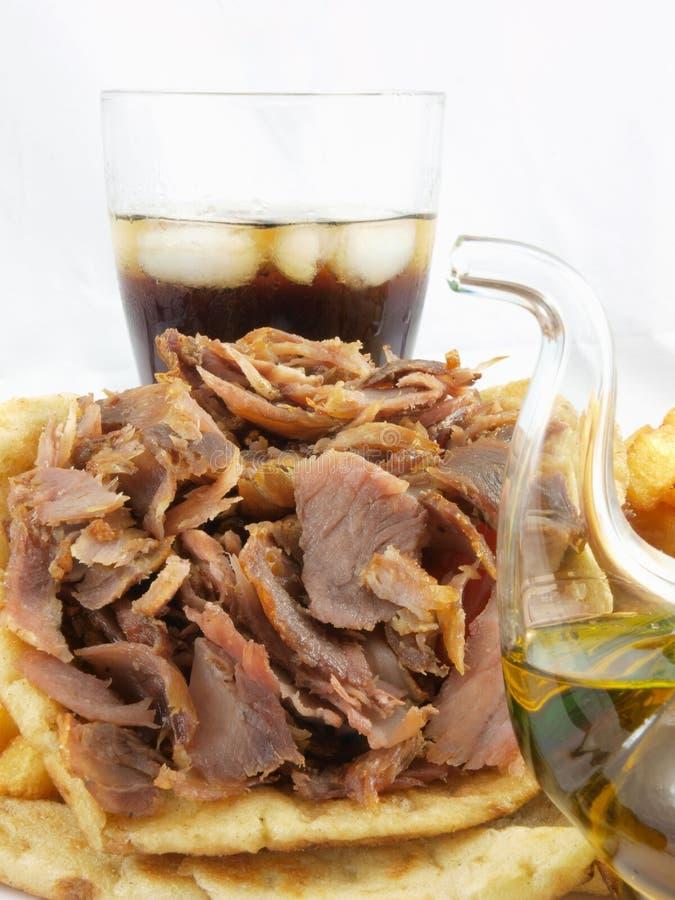 Greek food gyros royalty free stock photo