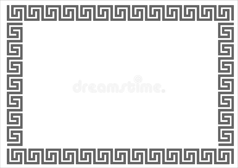 Greek frame. stock illustration