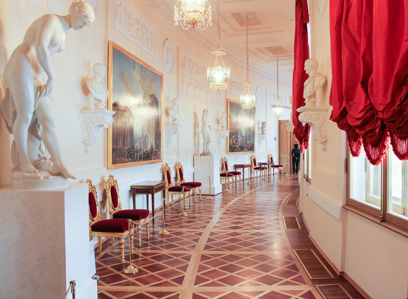 Greek Gallery Gatchina Palace. royalty free stock image
