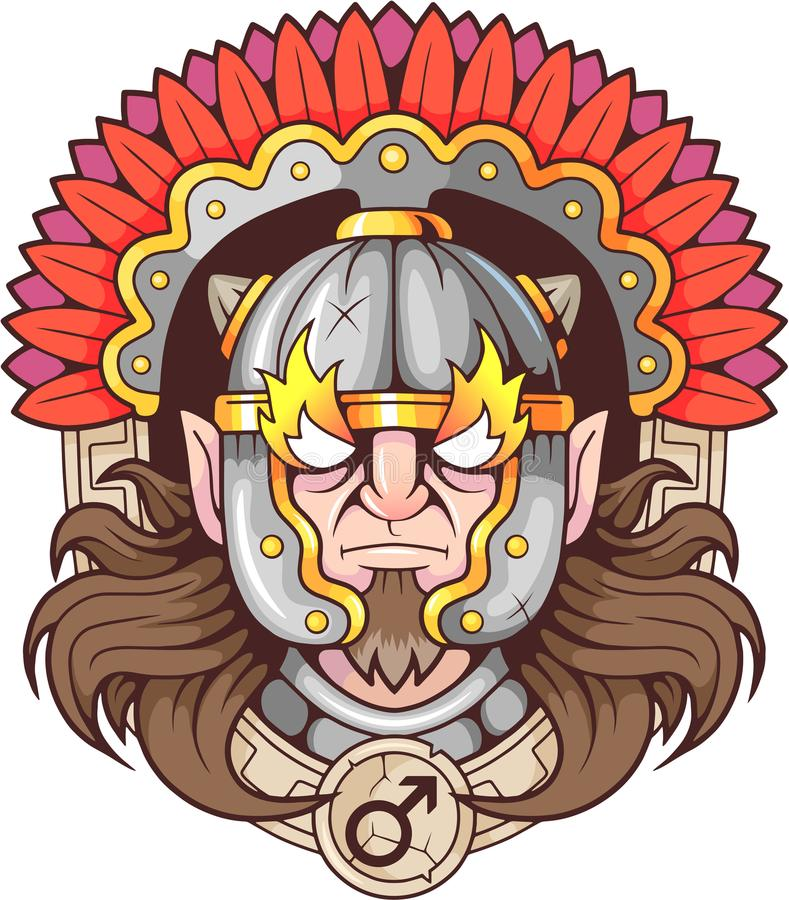 Greek God Of War Ares Stock Vector Illustration Of Symbol 106803013